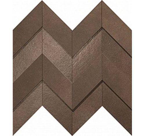 Dwell Brown Leather Chevron 3D