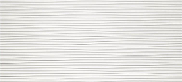 3D Flows White Matt 50x110
